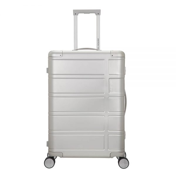 American Tourister Alumo Spinner 67 silver Harde Koffer