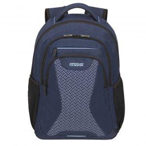 American Tourister At Work Laptop Backpack 15.6'' Knit blue melange backpack