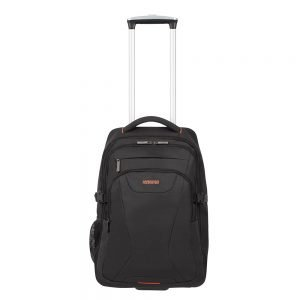 American Tourister At Work Laptop Backpack With Wheels 15.6'' black/orange backpack