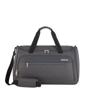 American Tourister Heat Wave Duffle 55 charcoal grey Weekendtas