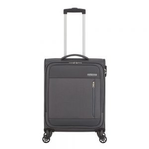 American Tourister Heat Wave Spinner 55 charcoal grey Zachte koffer