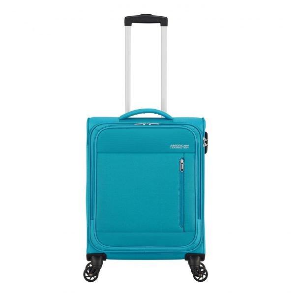 American Tourister Heat Wave Spinner 55 sporty blue Zachte koffer