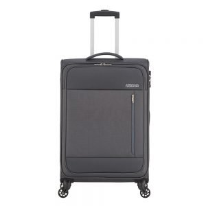 American Tourister Heat Wave Spinner 68 charcoal grey Zachte koffer
