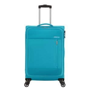 American Tourister Heat Wave Spinner 68 sporty blue Zachte koffer