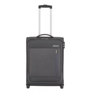 American Tourister Heat Wave Upright 55 charcoal grey Zachte koffer
