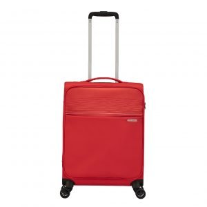 American Tourister Lite Ray Spinner 55 chili red Zachte koffer