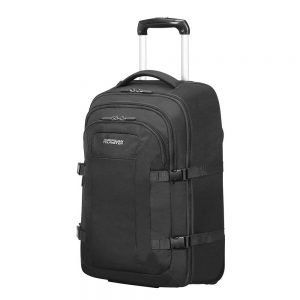 "American Tourister Road Quest Laptop Backpack Wheels 15.6"" solid black Reistas"