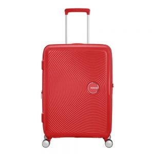 American Tourister Soundbox Spinner 67 Expandable coral red Harde Koffer