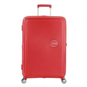 American Tourister Soundbox Spinner 77 Expandable coral red Harde Koffer