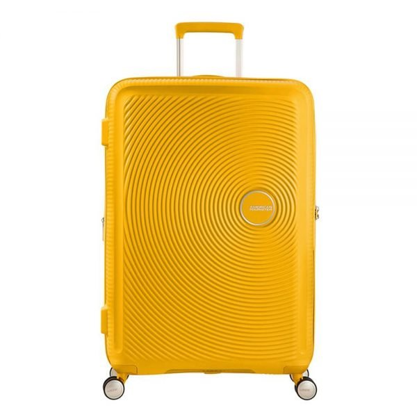 American Tourister Soundbox Spinner 77 Expandable golden yellow Harde Koffer