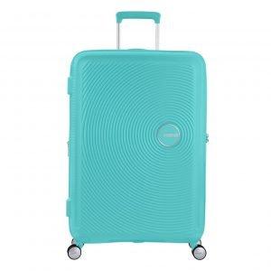American Tourister Soundbox Spinner 77 Expandable poolside blue Harde Koffer