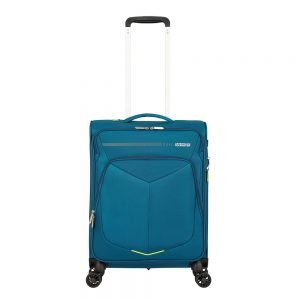 American Tourister Summerfunk Spinner 55 Expandable teal Zachte koffer
