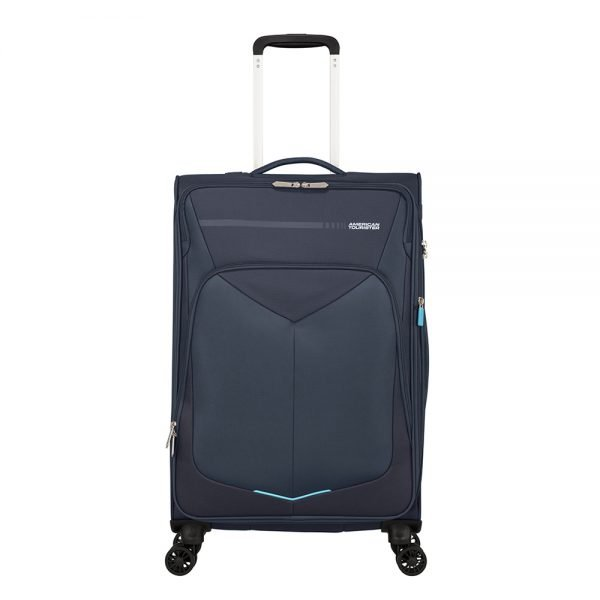 American Tourister Summerfunk Spinner 67 Expandable navy Zachte koffer