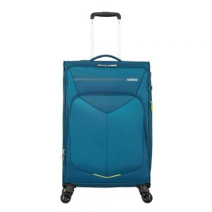 American Tourister Summerfunk Spinner 67 Expandable teal Zachte koffer