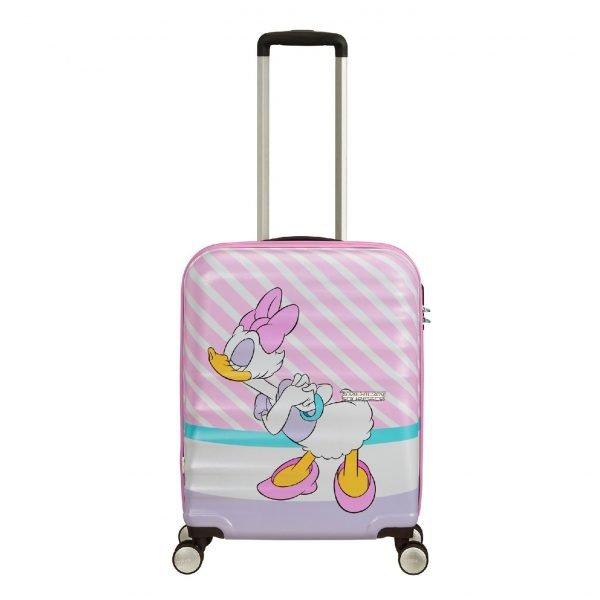 American Tourister Wavebreaker Disney Spinner 55 daisy pink kiss Harde Koffer