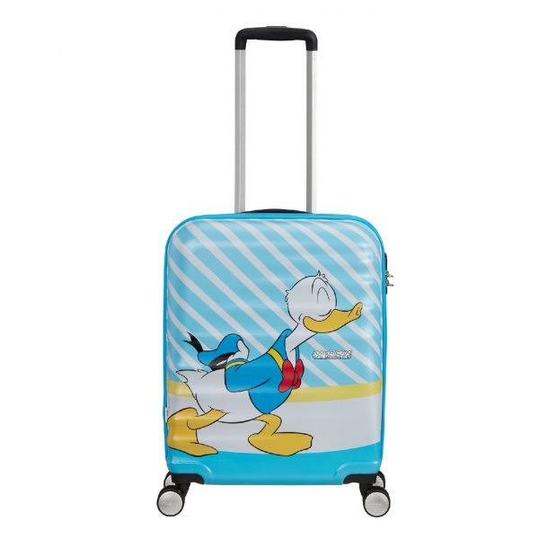 American Tourister Wavebreaker Disney Spinner 55 donald blue kiss Harde Koffer