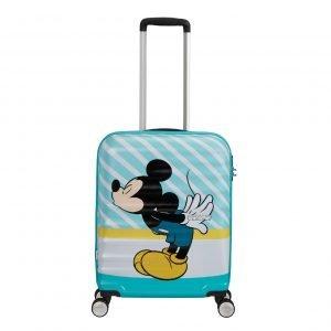 American Tourister Wavebreaker Disney Spinner 55 mickey blue kiss Harde Koffer
