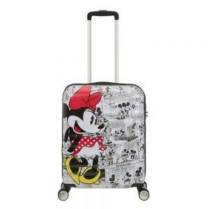 American Tourister Wavebreaker Disney Spinner 55 minnie comics white Harde Koffer
