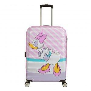American Tourister Wavebreaker Disney Spinner 67 daisy pink kiss Harde Koffer