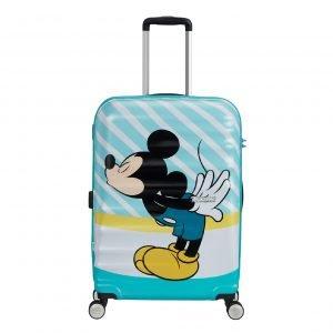 American Tourister Wavebreaker Disney Spinner 67 mickey blue kiss Harde Koffer
