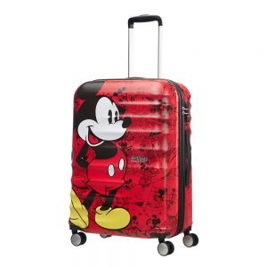 American Tourister Wavebreaker Disney Spinner 67 mickey comics red Harde Koffer