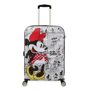 American Tourister Wavebreaker Disney Spinner 67 minnie comics white Harde Koffer