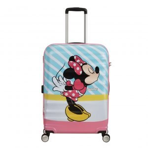 American Tourister Wavebreaker Disney Spinner 67 minnie pink kiss Harde Koffer