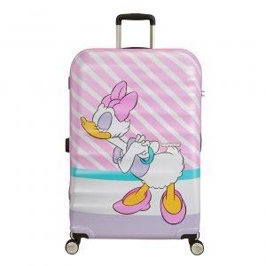 American Tourister Wavebreaker Disney Spinner 77 daisy pink kiss Harde Koffer