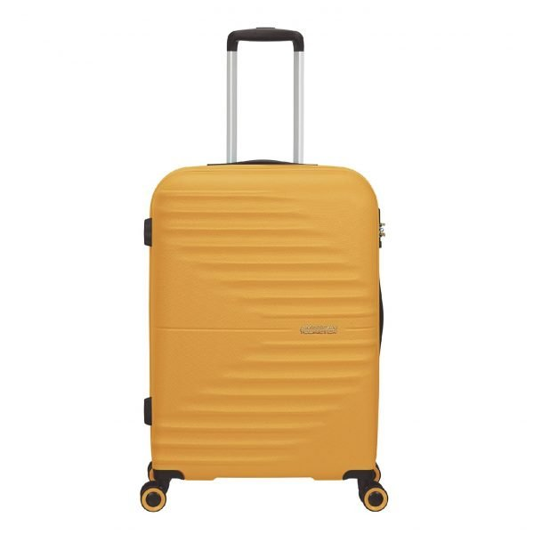 American Tourister Wavetwister Spinner 66 sunset yellow Harde Koffer