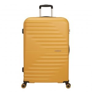 American Tourister Wavetwister Spinner 77 sunset yellow Harde Koffer
