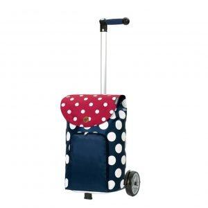 Andersen Unus Boodschappentrolley Dots blue Trolley