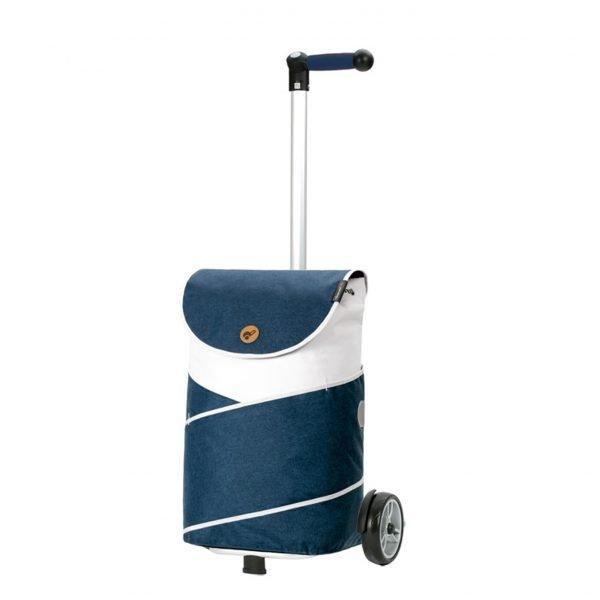 Andersen Unus Boodschappentrolley Jarl blue Trolley