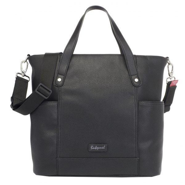 Babymel Rosie Vegan Leather Diaper Bag black Luiertas