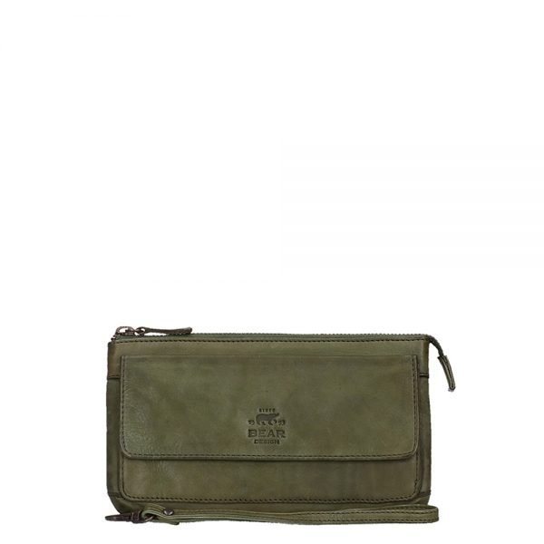 Bear Design Cow Lavato Clutch green Damestas