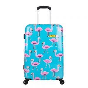 Bhppy Go Flamingo Trolley 67 blue / pink Harde Koffer