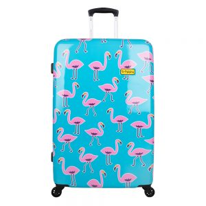 Bhppy Go Flamingo Trolley 77 blue / pink Harde Koffer