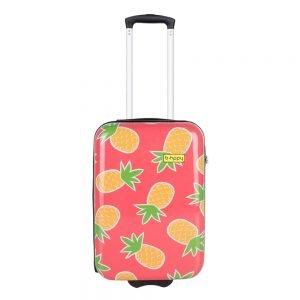 Bhppy Pretty Pineapple Trolley 55 roze Harde Koffer