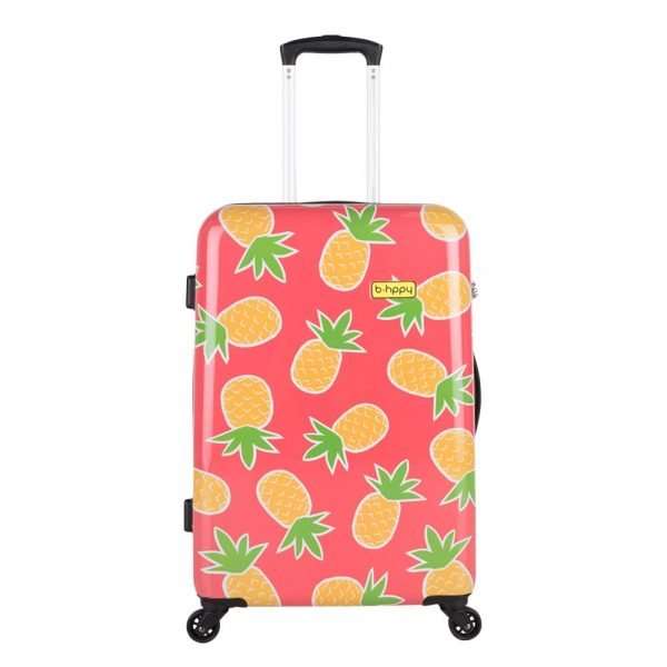 Bhppy Pretty Pineapple Trolley 67 roze Harde Koffer