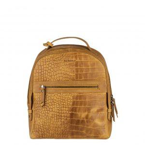 Burkely Croco Cody Backpack ochre yellow Damestas