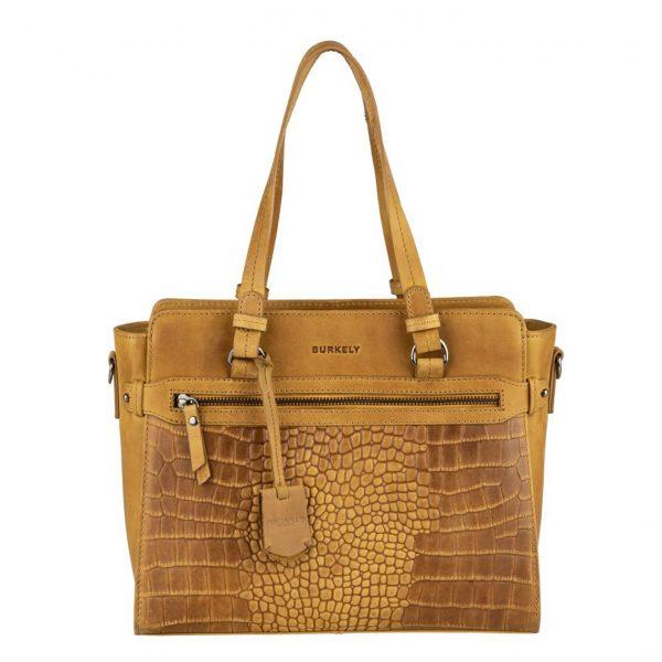 Burkely Croco Cody Handbag S ochre yellow Damestas