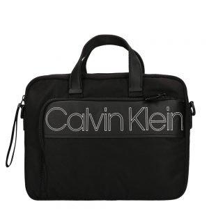 Calvin Klein Double Logo Laptop Bag black