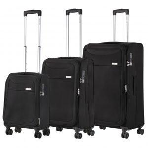 CarryOn Air Trolleyset 3pcs black Lichtgewicht koffer