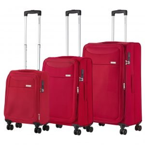 CarryOn Air Trolleyset 3pcs cherry red Lichtgewicht koffer