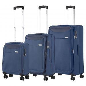 CarryOn Air Trolleyset 3pcs steel blue Lichtgewicht koffer