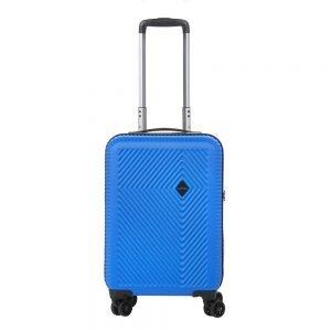 CarryOn Connect 4 Wiel Trolley 55 USB blue Harde Koffer