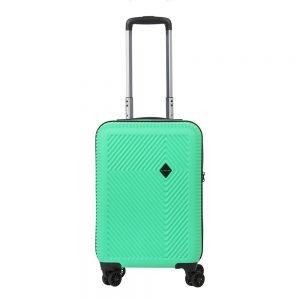 CarryOn Connect 4 Wiel Trolley 55 USB green Harde Koffer