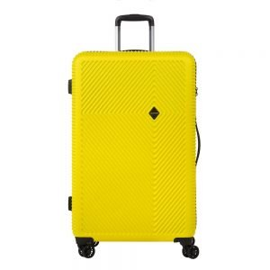 CarryOn Connect 4 Wiel Trolley 77 yellow Harde Koffer