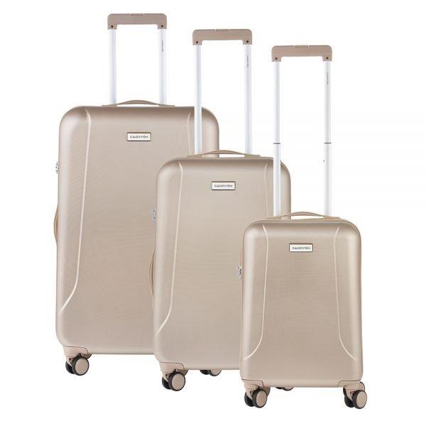 CarryOn Skyhopper Trolleyset 3pcs TSA champagne