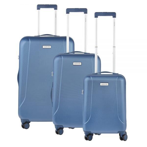 CarryOn Skyhopper Trolleyset 3pcs TSA cool blue