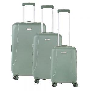 CarryOn Skyhopper Trolleyset 3pcs TSA olijf